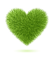 grass heart symbol vector image vector image