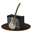 Guitar and amp vector image vector image