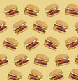 hamburger fast food delicious seamless pattern vector image vector image