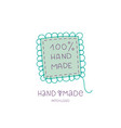 Hand made logo patch hobby icon