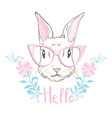 happy easter bunny for easter greeting card vector image
