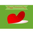 Heart shape valentine vector image vector image
