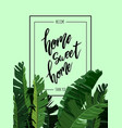 home sweet home lettering vector image vector image