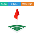 Icon of football field corner flag vector image