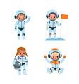 kids astronauts cartoon boys and girls vector image vector image