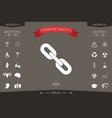 link chain symbol icon vector image