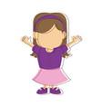 little girl kid character standing people vector image vector image