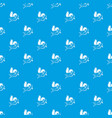 love cupid pattern seamless blue vector image