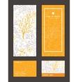 Magical floral vertical frame pattern vector image