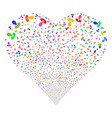 manager fireworks heart vector image vector image