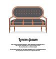 Modern Sofa Vintage Style vector image