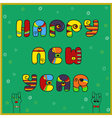 New year card with text by artistic font vector image vector image