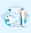 online rx medical prescription and medic check up vector image