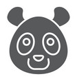 panda glyph icon animal and zoo vector image vector image
