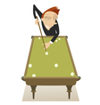 Pool player vector image vector image