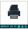 Printer icon flat vector image vector image