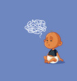 puzzled baby learning language cartoon vector image