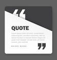 quote form on square paper banner with shadow vector image