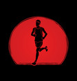 Running man sport man sprinter marathon runner