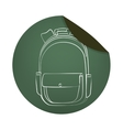 school bag equipment icon vector image