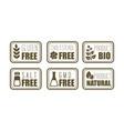 set 6 allergen free emblems gluten vector image