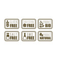 set of 6 allergen free emblems gluten vector image