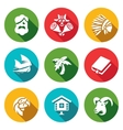 Set of Life on Desert Island Icons vector image vector image