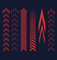 set of red arrows vector image