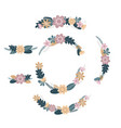 set of spring flower wreath vector image