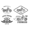 Set of vintage motorcycle badges vector image vector image