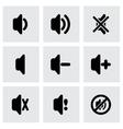 speaker icon set vector image vector image