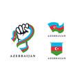 spirit rising hand azerbaijan series set vector image vector image