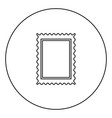 stamp icon black color in circle vector image