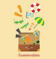 summertime banner things necessary for rest vector image vector image