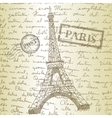 table top with sketching paper and eiffel tower vector image vector image