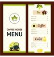 Tea Cafe Menu vector image vector image