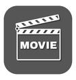 The clapper board icon Movie symbol Flat vector image