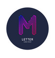 the letter m latin alphabet display vector image