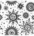 tribal ornamental sun seamless pattern can vector image