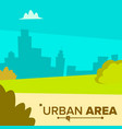 urban area modern city town landscape with vector image vector image