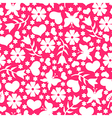 valentine day pattern pink vector image vector image