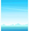 vertical postcard or poster seascape background vector image vector image