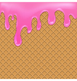 Waffle background with jam vector image vector image