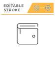 wallet editable stroke line icon vector image vector image