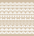 White Lace Border set vector image vector image