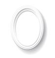 White oval frame vector image vector image