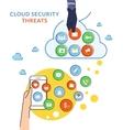 Cloud hacking vector image