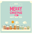 Christmas Little Town vector image