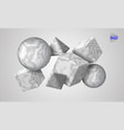 3d decorative figures of a cube triangle and vector image vector image
