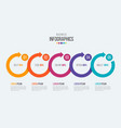 5 steps timeline infographic template with vector image vector image
